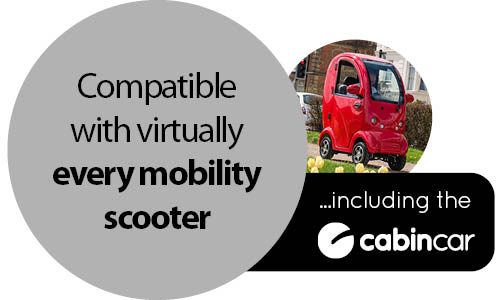 Mobility storage solution - compatible with virtually every mobility scooter
